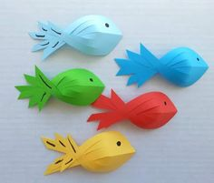 paper fish for kids ~ Crazzy Craft