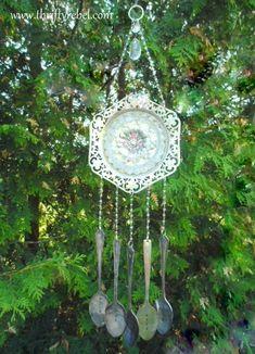 Vintage Silverware Wind Chime / www.thriftyrebel.com