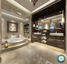 Your bathroom is the place where you can lock the door and relax, so make it a place of pure luxury. These stunning luxury bathrooms bring inspiration luxus, 50 Luxury Bathrooms And Tips You Can Copy From Them Dream Bathrooms, Dream Rooms, Beautiful Bathrooms, Luxury Bathrooms, Mansion Bathrooms, Fancy Bathrooms, Luxury Hotel Bathroom, Luxury Shower, Dream Home Design
