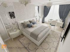 Фото дизайн спальни из проекта «Интерьер квартиры в классическом стиле в ЖК «Времена года», 61 кв.м.»
