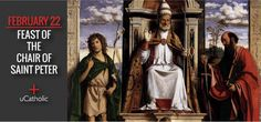 The feast of The Chair of St. Peter commemorates Christ's choosing Peter to sit in his place as the servant-authority of the whole Church.