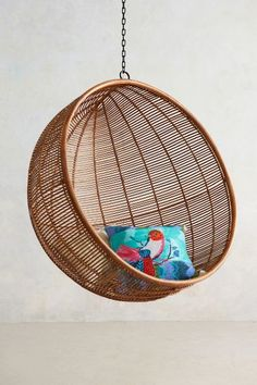 For the Dream Porch - Rattan Hanging Chair - anthropologie.com