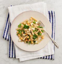Pea and Chickpea Pasta Salad