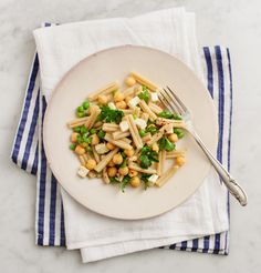 Pea and Chickpea Pasta Salad