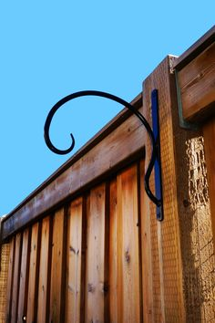 And exceptionally sturdy hanger for your heavy duty doodads! Outdoor Spaces, Indoor Outdoor, Outdoor Decor, Flower Basket, Flower Pots, Hanging Basket Brackets, Stock Tank Pool, Wind Spinners