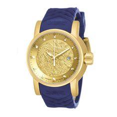 042446da872 Relógio Invicta S1 Rally 18215 - Dourado Azul