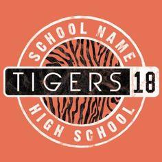 Design of school spirit gear t-shirt design idea for tigers. #spiritgear #schoolshirt #shirtidea