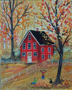 Fall into Autumn An original painting on by EstellesPaintedTreas