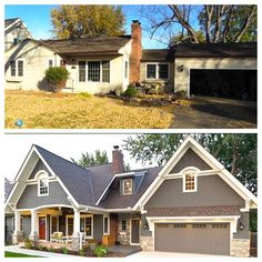 many before after photos of ranch homes with new story additions the transformations are amazing like your floor plan like your neighborhood - Ranch Home Renovation