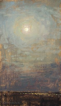 "Image of David Grossmann | ""Moon and City Lights"""