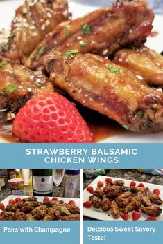 """Champagne pairs marvelously due to their sweet, savory, yet picante flavor. The balsamic balances out the sweetness of the jam, and a dash of cayenne pepper leaves a subtle, yet noticeable kick on your tongue. A """"super delicious"""" favorite for you to add to your arsenal of wing sauces."""