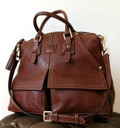 Dooney Bourke Chestnut Florentine Leather Clayton Satchel 428 Mama Mia