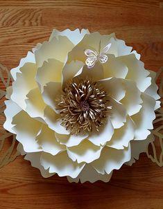 Patrón de flor de papel, plantilla de flores de papel solamente. Tutorial de flor de papel DIY archivo, patrón de pared personalizado flor de corte de SVG
