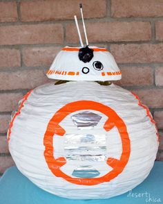 DIY BB-8 Costume Idea   Try this adorable Star Wars costume for your child this Halloween!