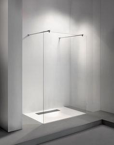 Vrijstaande inloopdouche Clear 71, Walk in shower   Balance Bathroom