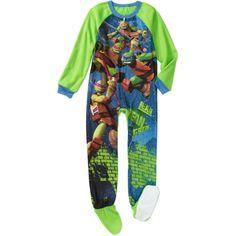 Teenage Mutant Ninja Turtles Boys' Footed Blanket Sleeper Pajamas