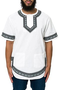 The Division Dashiki in White by 10 Deep