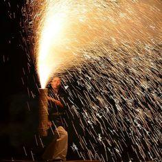Igniting Handheld Fireworks at Summer Festivals in Japan