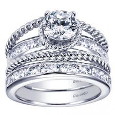 """I want to start with an engagement band and """"earn"""" a new band for every 5 years of marriage. Maybe on the 20th anniversary I can get the big rock. That way it's a reward, not a promise."""