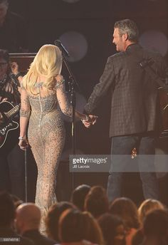 Blake Shelton and Gwen Stefani are seen on stage during the 2016 Billboard Music Awards held at the T-Mobile Arena on May 22, 2016 in Las Vegas, Nevada.