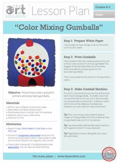 Color Mixing Gumballs: Free Lesson Plan Download