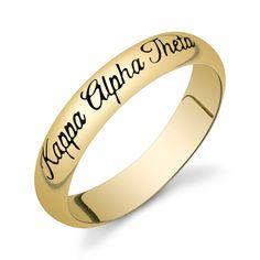 Kappa Alpha Theta Gold Vermeil Script Ring