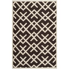 Dhurries Brown/Ivory 10 ft. x 14 ft. Area Rug