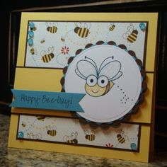 Happy Bee-Day! by monkeymama - Cards and Paper Crafts at Splitcoaststampers