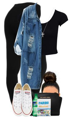 """""""Untitled #725"""" by camgueyana ❤ liked on Polyvore featuring NYDJ, Estradeur, Converse, Chicnova Fashion and MICHAEL Michael Kors"""