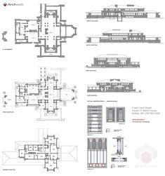 Darwin D Martin House, Buffalo NY (1903-05) | Frank Lloyd Wright | Archweb 2D