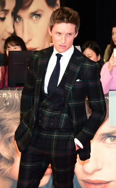 ralphlauren:  Timeless tartan, modern attitude: #EddieRedmayne looks sharp in a three-piece suit from Purple Label at last night's Tokyo premiere of #TheDanishGirl