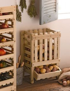 Potato Bin...holds up to 45# of potatoes or onions.