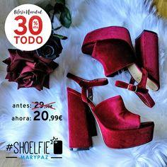 TODO 30% DTO. ¡¡OFERTA NAVIDAD by MARYPAZ!! En tiendas y MARYPAZ.COM  ¿Preparada ya para las fiestas? Compartimos con todas la propuesta de @rachelsdiary en su #Shoelfie  Hazte con esta SANDALIA VELVET aquí ►http://www.marypaz.com/trendy/sandalia-tacon/sandalia-terciopelo-0136816i681-74809.html  #SoyYoSoyMARYPAZ #Follow #winter #love #fashion #colour #tendencias #marypaz #locaporlamoda #BFF #igers #moda #zapatos #trendy #look #itgirl #invierno #AW16 #igersoftheday #girl  **Promoción válida…