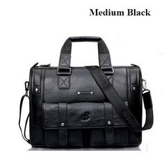 "BailiLaoRen Business Briefcase Leather Man 14-15"" Laptop Handbags Large-Capacity Travel Men's Messenger Crossbody Bag P083"