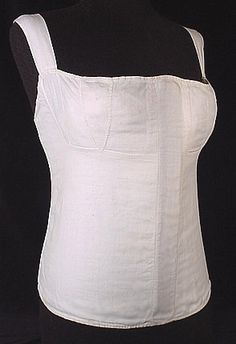 """Linen stays, c.1810 Most likely captive women would have worn stays instead of corsets in the fields. In the house they would have had to be more """"presentable"""""""