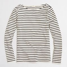 J.Crew+Factory+-+Factory+long-sleeve+striped+boatneck+T-shirt