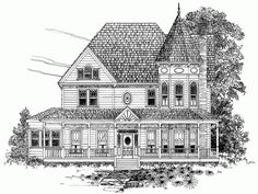 Eplans Queen Anne House Plan - Three Bedroom Queen Anne - 2519 Square Feet and 3 Bedrooms(s) from Eplans - House Plan Code HWEPL64584