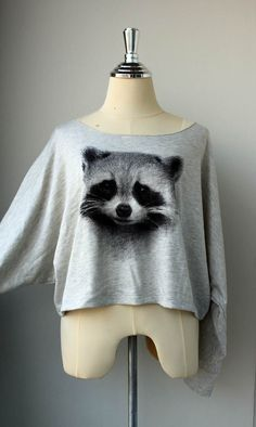 The Cute Pullover Sweater Raccoons  Animal Print Bat by Tshirt99, $23.99. I just find these so cute!!!