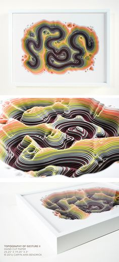 The fine paperworks of Caryn Ann Bendrick, an artist whose paper based works are tactile meditations on repetition and the dichotomy of destruction and creation. Modern Art, Contemporary Art, Papercutting, Paper Artist, Cut Paper, Art Object, Diy Art, Layers, Sculpture