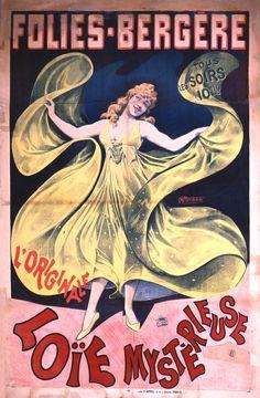 Art Deco Antiques Able Vintage Programme Theatre Folies Bergère 1934