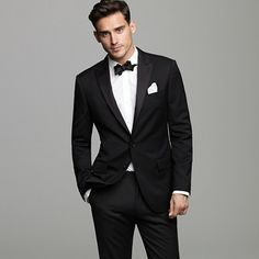 two button tux with double-vented back