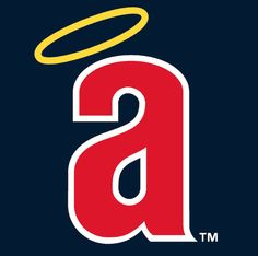 California Angels Cap Logo (1971) - A lowercase 'a' with a halo over it on blue