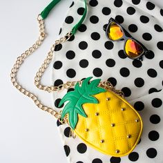 Tropical Location Pineapple Clutch