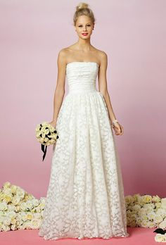 We're back with our favorite wedding dresses under $500. This week's dresses are by some of our favorite designers and we can't help but drool. My personal favorite is the Caroline dress by BHLDN (pictured above)- it's vintage chic with a modern twist- yum! Get to ordering ladies. See you in two weeks! Melissa Sweet …