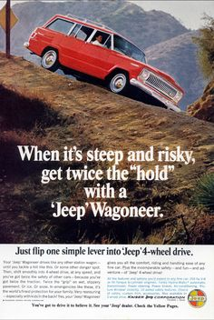 Merchandise & Memorabilia Independent 1965 Jeep Wagoneer Ad Original Excellent Condition Clear-Cut Texture