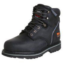 "Timberland PRO Men's Pitboss 6"" Steel-Toe Boot,Black,7.5 M"