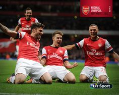 Arsenal Win vs Liverpool 2013-2014.