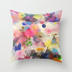 Dreamscape Throw Pillow by Ninola - $20.00