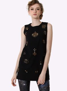 Black Jewel Beads Embellished Dress$48! All cross items start at $11, and you can get a free ring if shop over $70 before 4/10!  http://www.udobuy.com/index.php
