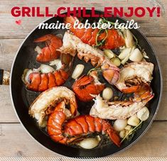 Maine lobster tails caught right off the Maine coast in the cold waters of the Atlantic Ocean. They're sweet and tender, and so versatile. Perfect for grilling, steaming, stuffing or baking; the opportunities are endless. They're a great addition to any summer BBQ, and make surf & turf nights epic. #lobstertails #easydinner  www.hancockgourmetlobster.com Lobster And Burger, Lobster Sauce, Lobster Tails, Lobster Ravioli, Best Lobster Tail Recipe, Lobster Recipes, Lobster Bisque, Lemon Herb, Valentines Day Dinner